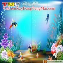 Gạch tranh 3D TMC Tùng Mai Ceramics - Tranh bạch tuộc
