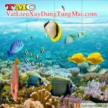 Gạch tranh 3D TMC Tùng Mai Ceramics - Tranh cá vàng