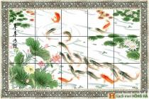 Gạch tranh TMC Tùng Mai Ceramics - Đàn cá bơi