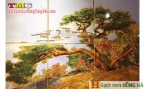 Gạch tranh TMC Tùng Mai Ceramics - Cây bồ đề mạ vàng