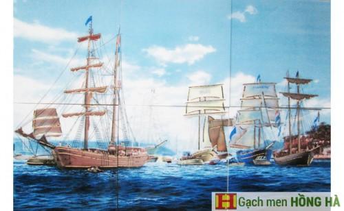 Gạch tranh TMC Tùng Mai Ceramics - Thuyền buồm