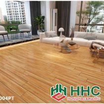 Gạch vân gỗ lát phòng khách đẹp 158004pt