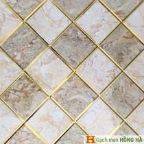 Gạch 30x30cm nhũ vàng cao cấp - 07