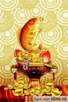 Gạch tranh TMC Tùng Mai Ceramics - Gạch tranh Cá Chép Vàng