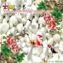 Gạch tranh 3D TMC Tùng Mai Ceramics - Hoa nở phú quý