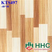 Gạch 40x40 vân gỗ KTS497