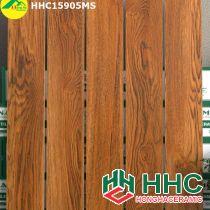 Gạch giả gỗ 15x90 lát phòng ngủ hhc15905ms