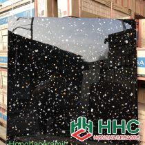 Gạch 60x60 bóng kiếng toàn phần ốp bếp