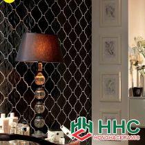 Mẫu thiết kế ốp tường đèn ngủ màu đen