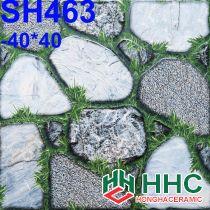 Gạch 40x40 lát sân cỏ sỏi SH463