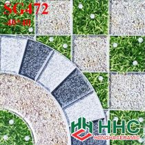 Gạch 40x40 lát sân cỏ giả đá SG472