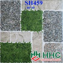 Gạch 40x40 lát sân cỏ giả đá SH459