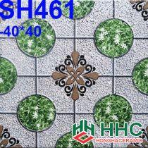 Gạch 40x40 lát sân cỏ hoa văn SH461