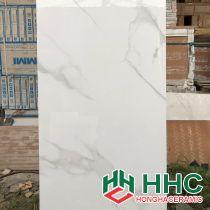 Gạch lát nền 60x120 Ấn Độ trắng vân khói
