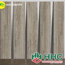 Gạch giả gỗ màu xám 15x80 hhc15807PT