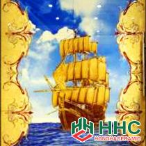 Gạch tranh TMC Tùng Mai Ceramics - Thuyền