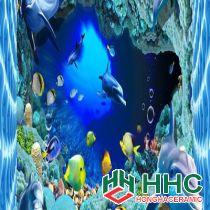 Gạch tranh 3D TMC Tùng Mai Ceramics - Đàn cá heo