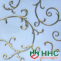 Gạch trang trí 30x30 cm nhũ vàng cao cấp