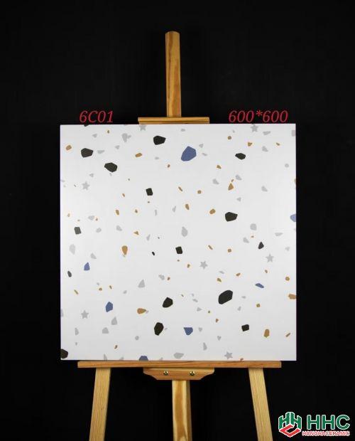 Gạch 60x60 6C01 vân sỏi đá